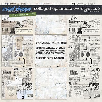 CU Collaged Ephemera Overlays no. 3 by Tracie Stroud
