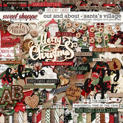Out and About: Santa's Village Kit by Grace Lee and Studio Basic