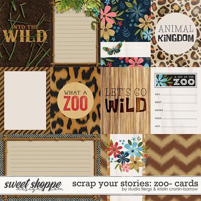 Scrap Your Stories: Zoo- CARDS by Studio Flergs & Kristin Cronin-Barrow