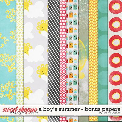 A Boy's Summer - Bonus Papers by Red Ivy Design