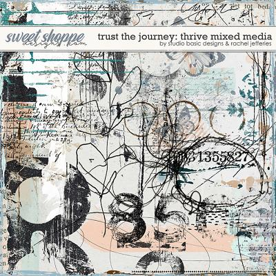 Trust The Journey Thrive Mixed Media by Studio Basic and Rachel Jefferies