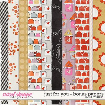 Just For You - Bonus Papers by Red Ivy Design