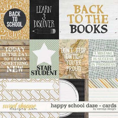 Happy school daze - cards by WendyP Designs