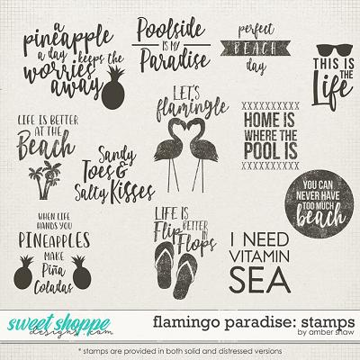 Flamingo Paradise: Stamps by Amber Shaw