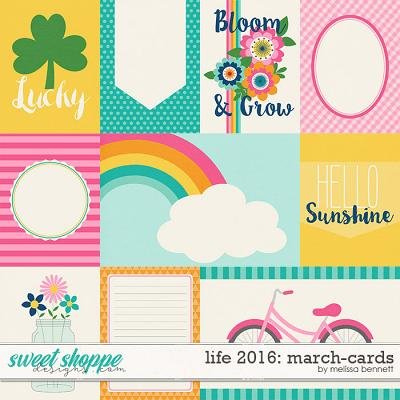 life 2016-March: Cards by Melissa Bennett