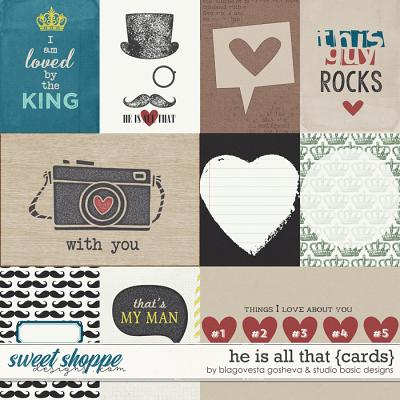 He Is All That Cards by Blagovesta Gosheva and Studio Basic