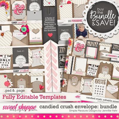 candied crush editable envelopes: Simple Pleasure Designs by Jennifer Fehr