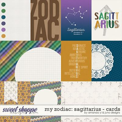 My Zodiac - Sagittarius : Cards by Amanda Yi & Juno Designs