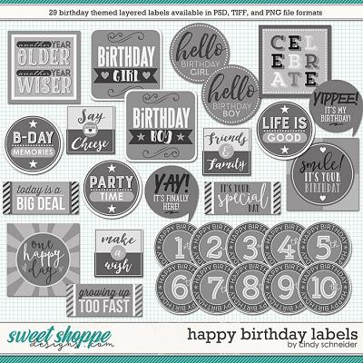 Cindy's Layered Labels: Happy Birthday by Cindy Schneider