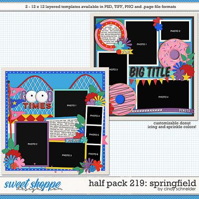 Cindy's Layered Templates - Half Pack 219: Springfield by Cindy Schneider