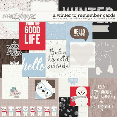 A Winter To Remember: Cards by Amanda Yi, Studio Basic Designs & Two Tiny Turtles