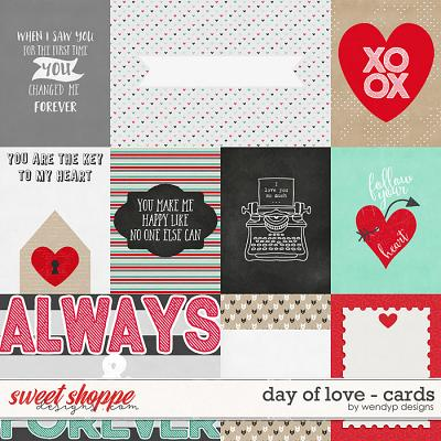 Day of love - cards by WendyP Designs