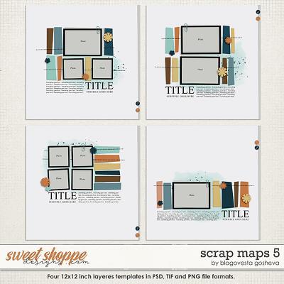 Scrap Maps 5 {layered templates} by Blagovesta Gosheva