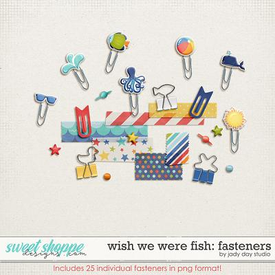 Wish We Were Fish Fasteners by Jady Day Studio