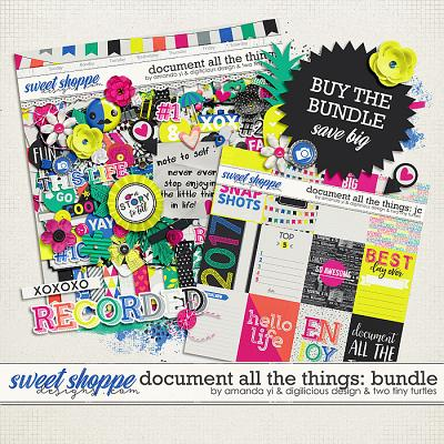Document All The Things: Bundle by Amanda Yi, Digilicious Design & Two Tiny Turtles