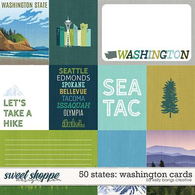 50 States: Washington Cards by Kelly Bangs Creative