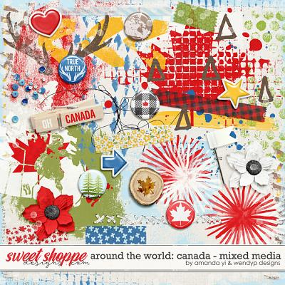 Around the world: Canada - Mixed Media by Amanda Yi & WendyP Designs