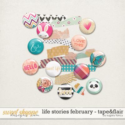 2016 Life Stories - February Tape & Flair by Sugary Fancy