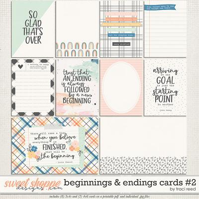 Beginnings & Endings Journal Cards #2 by Traci Reed