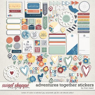 Adventures Together Stickers by Traci Reed