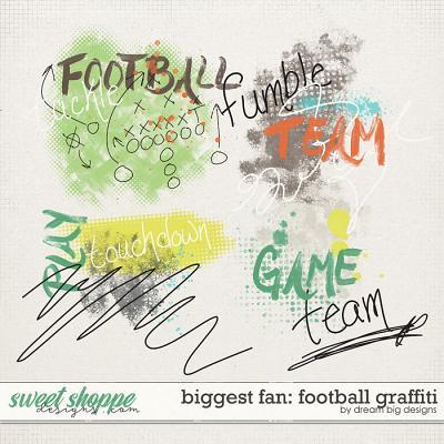 Biggest Fan: Football Graffiti by Dream Big Designs