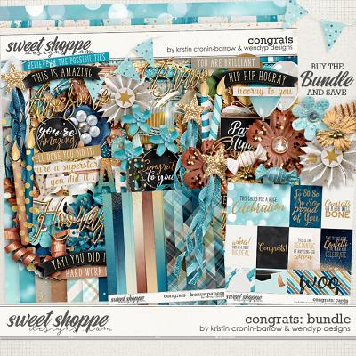 Congrats - Bundle by Kristin Cronin-Barrow & WendyP Designs