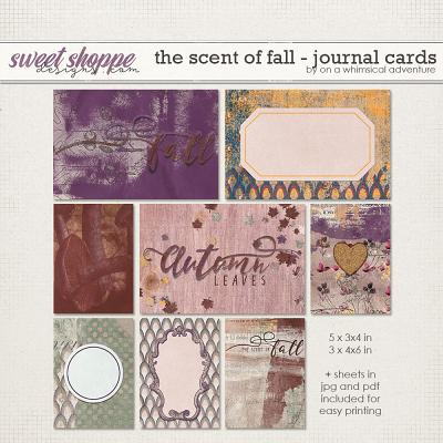 The Scent Of Fall Journal Cards by On A Whimsical Adventure