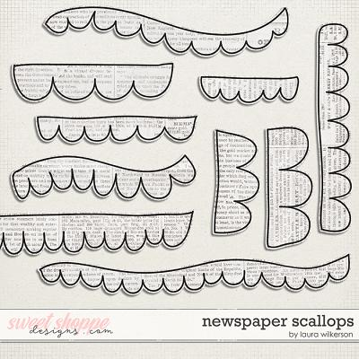 Newspaper Scallops by Laura Wilkerson