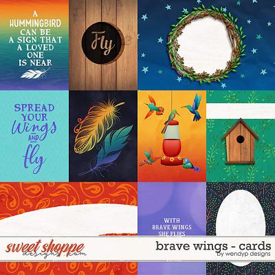 Brave Wings - cards by WendyP Designs