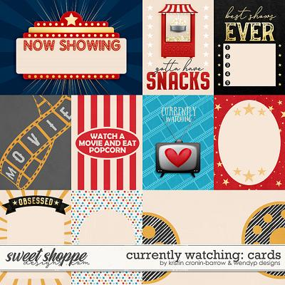 Currently watching - Cards by Kristin Cronin-barrow & WendyP Designs