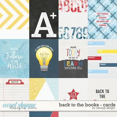Back to the books - cards by WendyP Designs