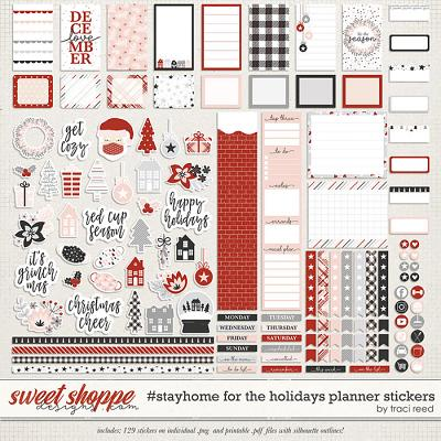 #StayHome for the Holidays: Planner Stickers by Traci Reed
