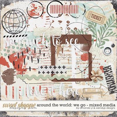 Around the world: We Go - Mixed Media by Amanda Yi & WendyP Designs
