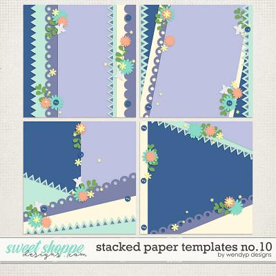 Stacked paper templates No:10 by WendyP Designs