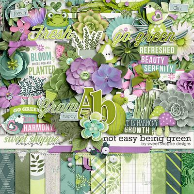 *FREE with your $15 Purchase* Not Easy Being Green by Sweet Shoppe Designs