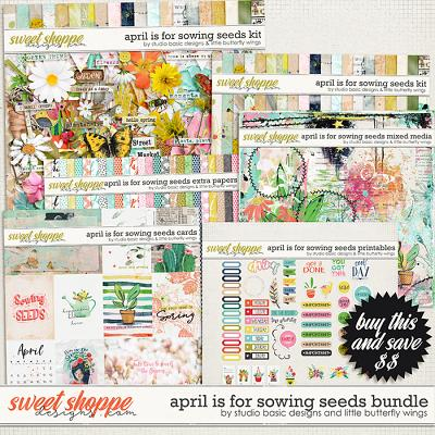 April Is For Sowing Seeds Bundle by Studio Basic & Little Butterfly Wings