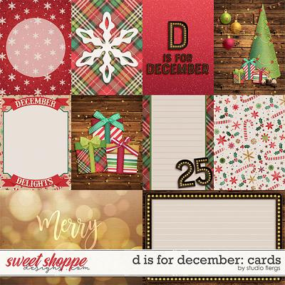 D is for December: CARDS by Studio Flergs