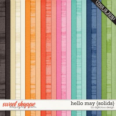 Hello May {Solids} by Digilicious Design