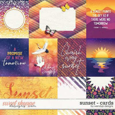 Sunset - Cards by WendyP Designs