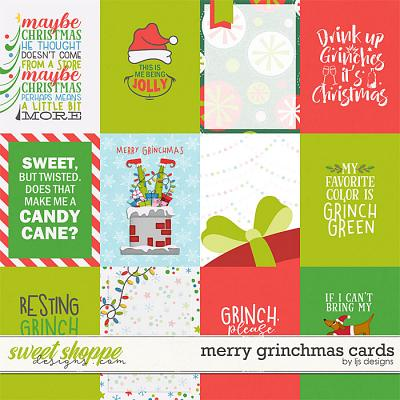 Merry Grinchmas Cards by LJS Designs