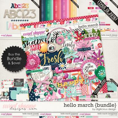 Hello March {Bundle} by Digilicious Design