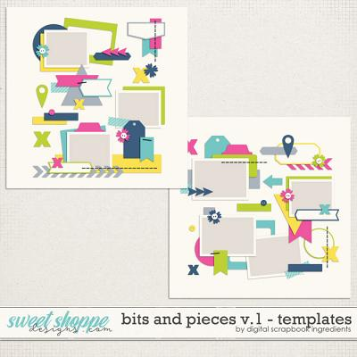 Bits And Pieces Templates Vol.1 by Digital Scrapbook Ingredients