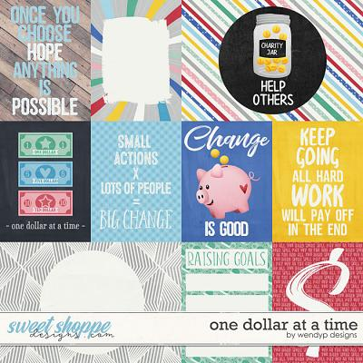 One dollar at a time - cards by WendyP Designs