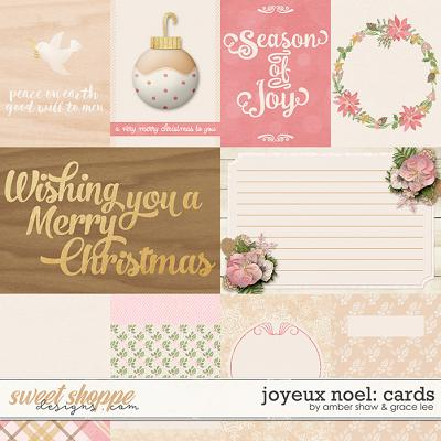 Joyeux Noel: Cards by Amber Shaw & Grace Lee