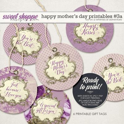 Happy Mother's Day Printable Round Labels Purple by On A Whimsical Adventure