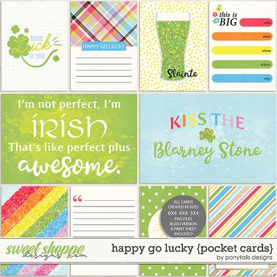 Happy Go Lucky Pocket Cards by Ponytails
