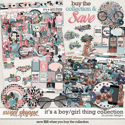 Its a Boy/Girl Thing Collection by JoCee Designs