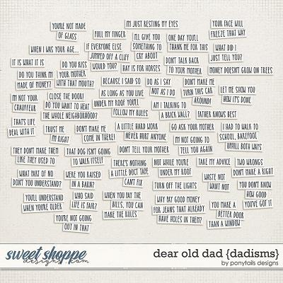 Dear Old Dad Dadisms by Ponytails