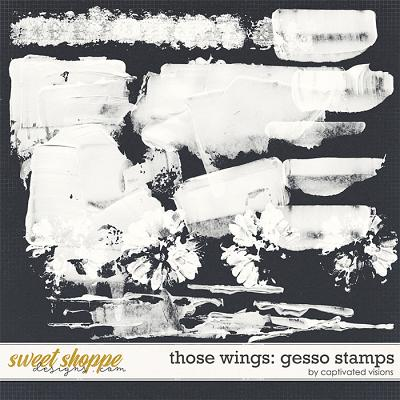 Those Wings: Gesso Stamps by Captivated Visions