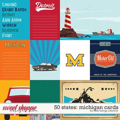50 States: Michigan Cards by Kelly Bangs Creative